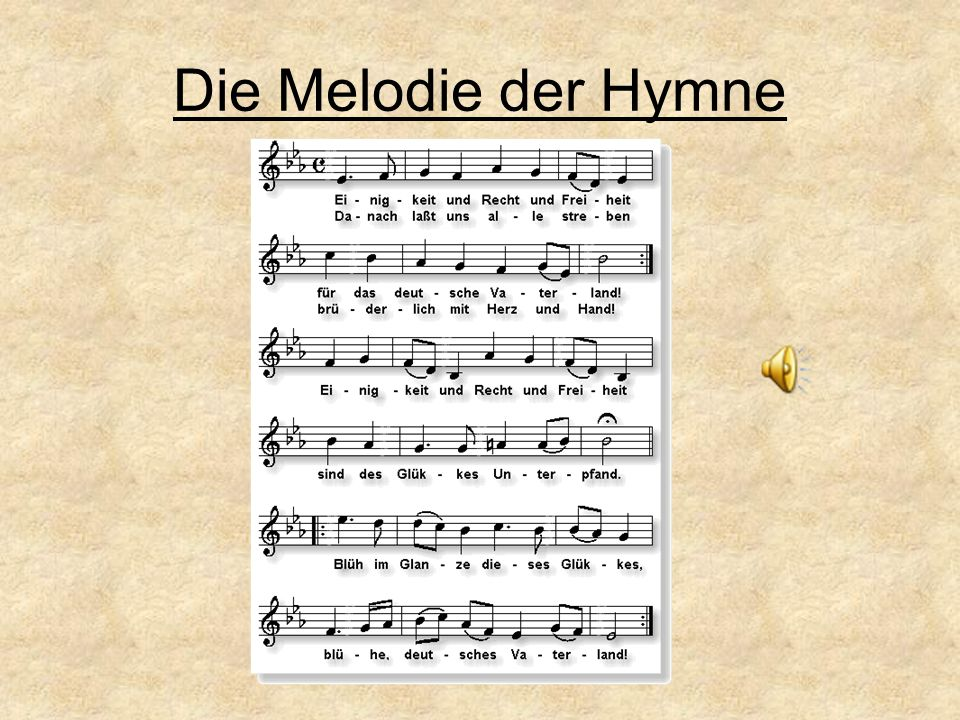 Die Melodie der Hymne