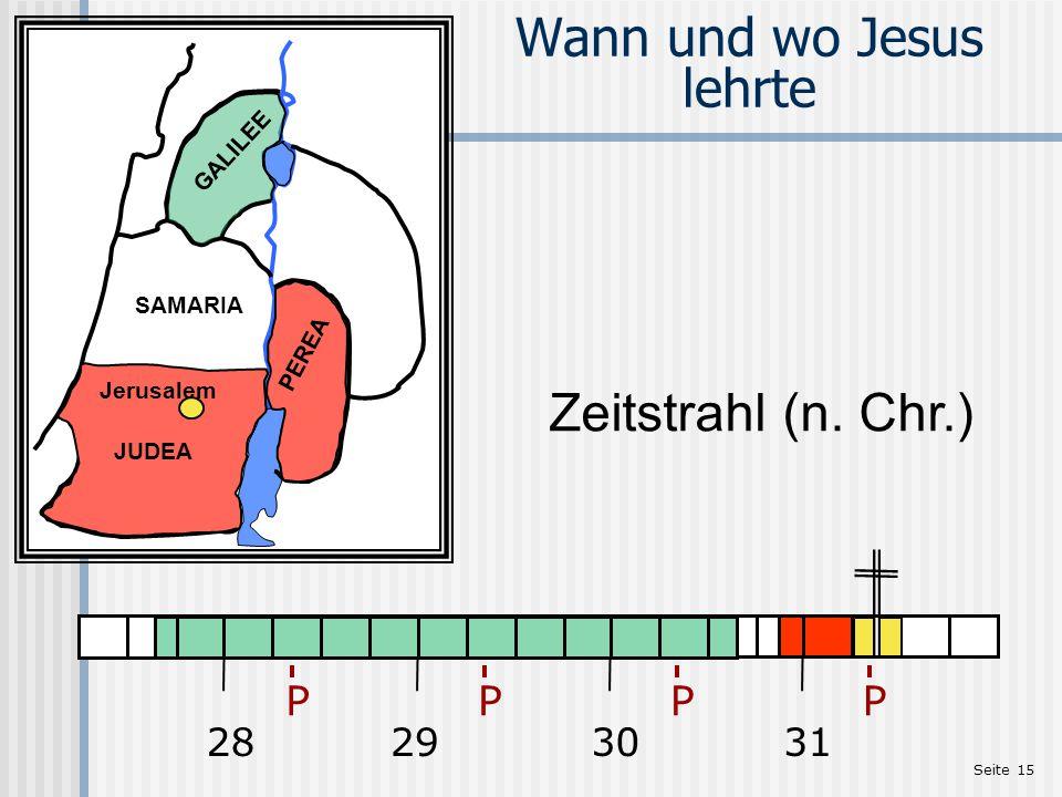 Wann und wo Jesus lehrte