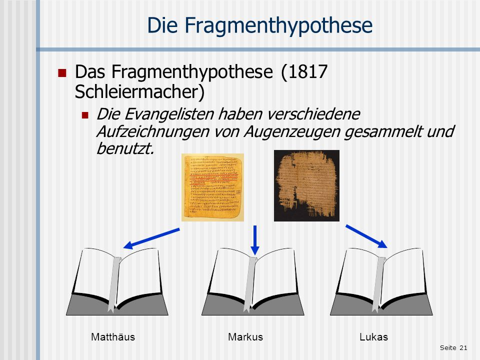 Die Fragmenthypothese