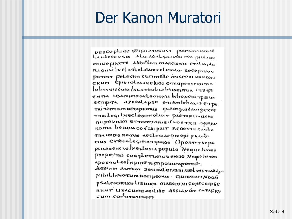 Der Kanon Muratori