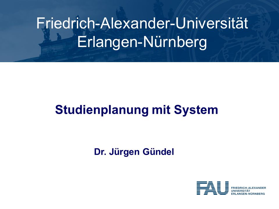 Studienplanung mit System