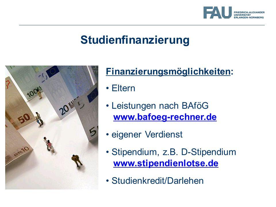 Studienfinanzierung Finanzierungsmöglichkeiten: Eltern