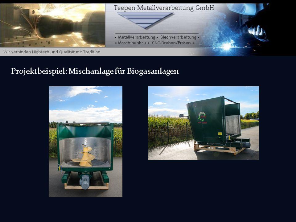 Projektbeispiel: Mischanlage für Biogasanlagen