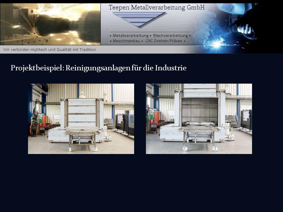 Projektbeispiel: Reinigungsanlagen für die Industrie