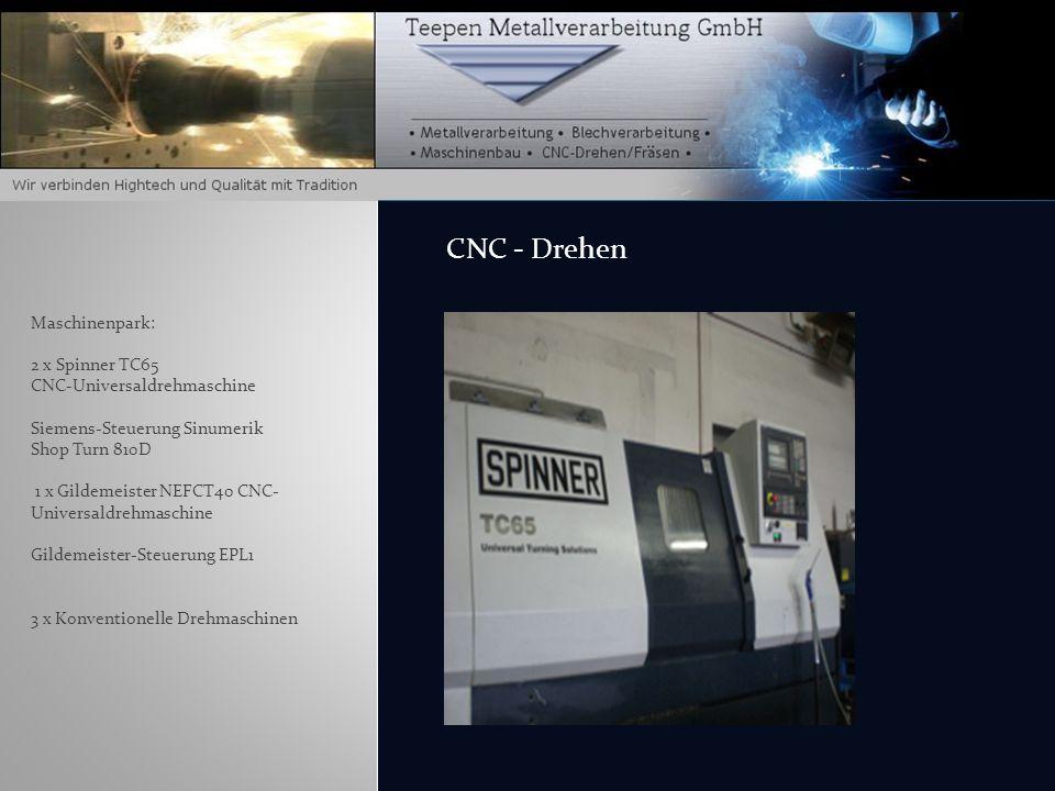 CNC - Drehen Maschinenpark: 2 x Spinner TC65 CNC-Universaldrehmaschine