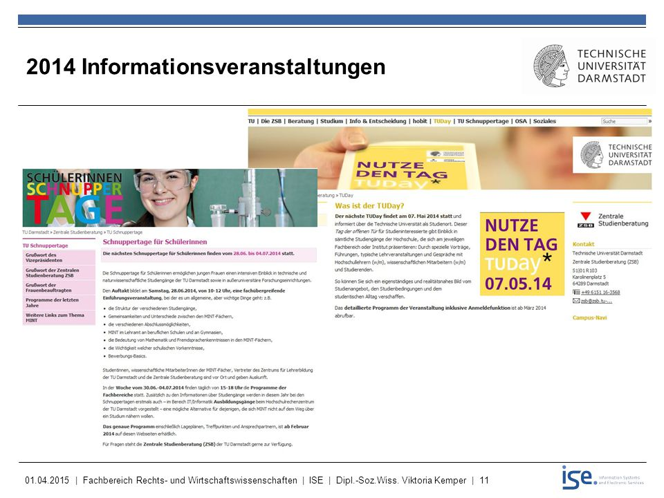 2014 Informationsveranstaltungen