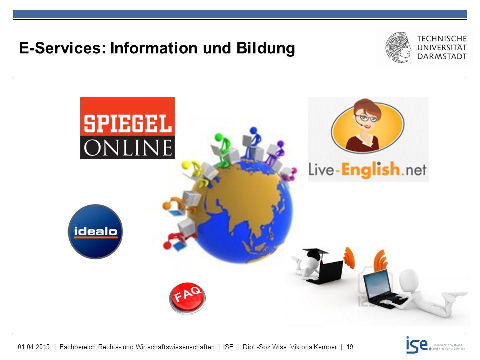 E-Services: Information und Bildung