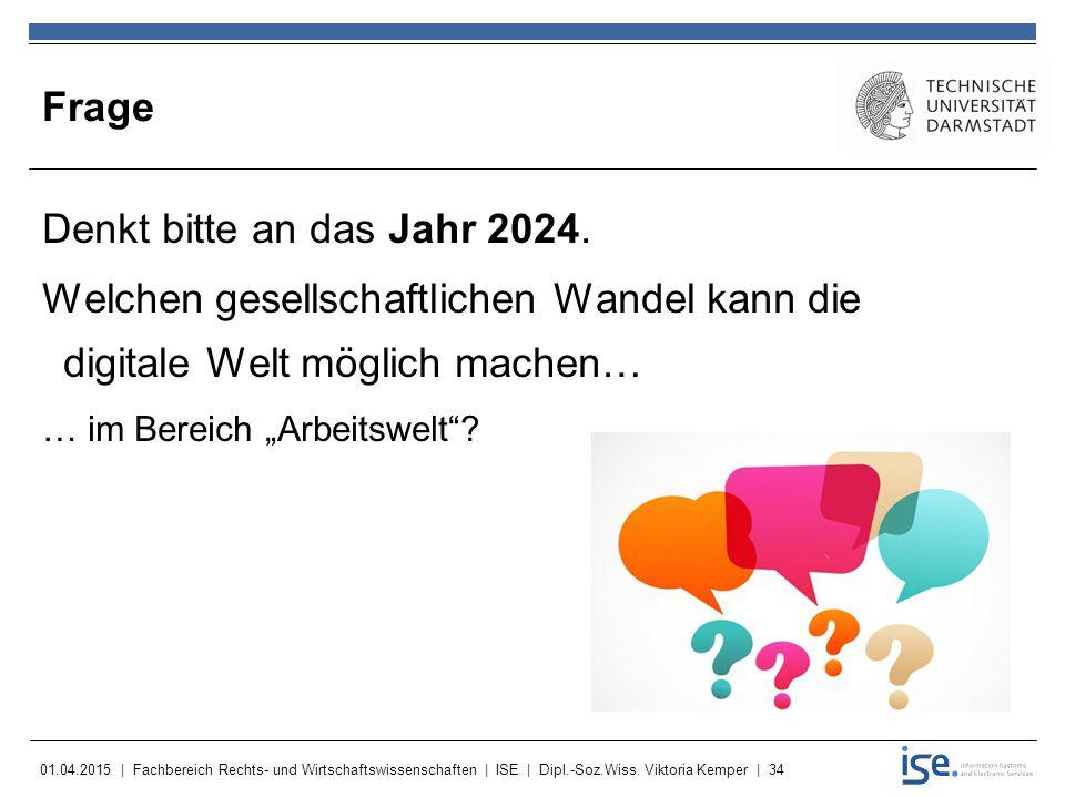 Frage Denkt bitte an das Jahr 2024.