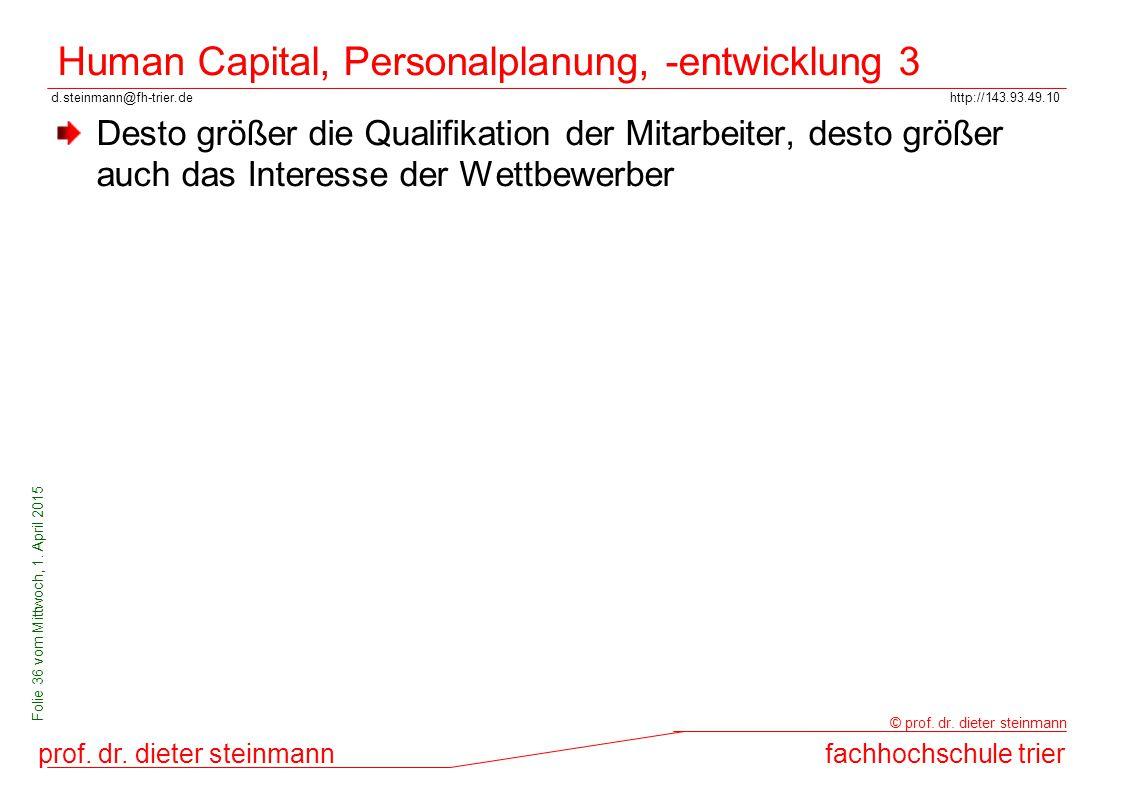 Human Capital, Personalplanung, -entwicklung 3