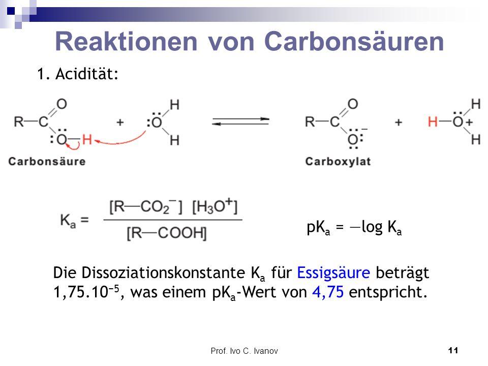 Reaktionen von Carbonsäuren