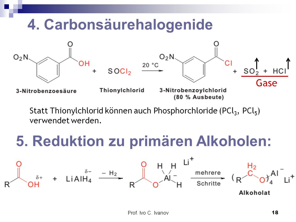 4. Carbonsäurehalogenide