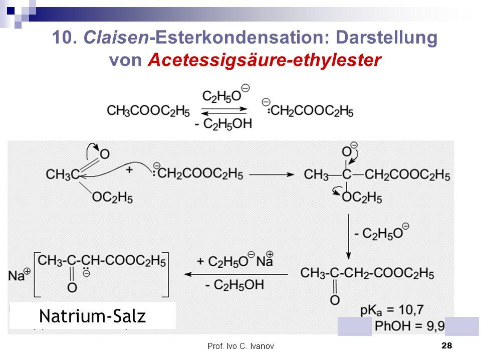 10. Claisen-Esterkondensation: Darstellung von Acetessigsäure-ethylester