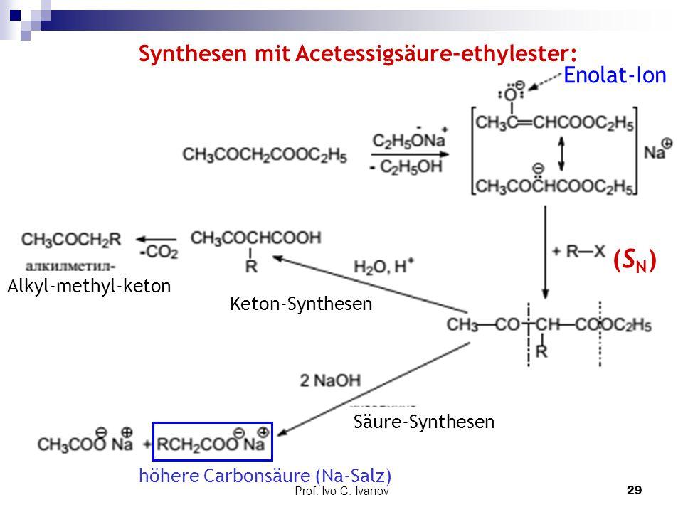 (SN) Synthesen mit Acetessigsäure-ethylester: Enolat-Ion