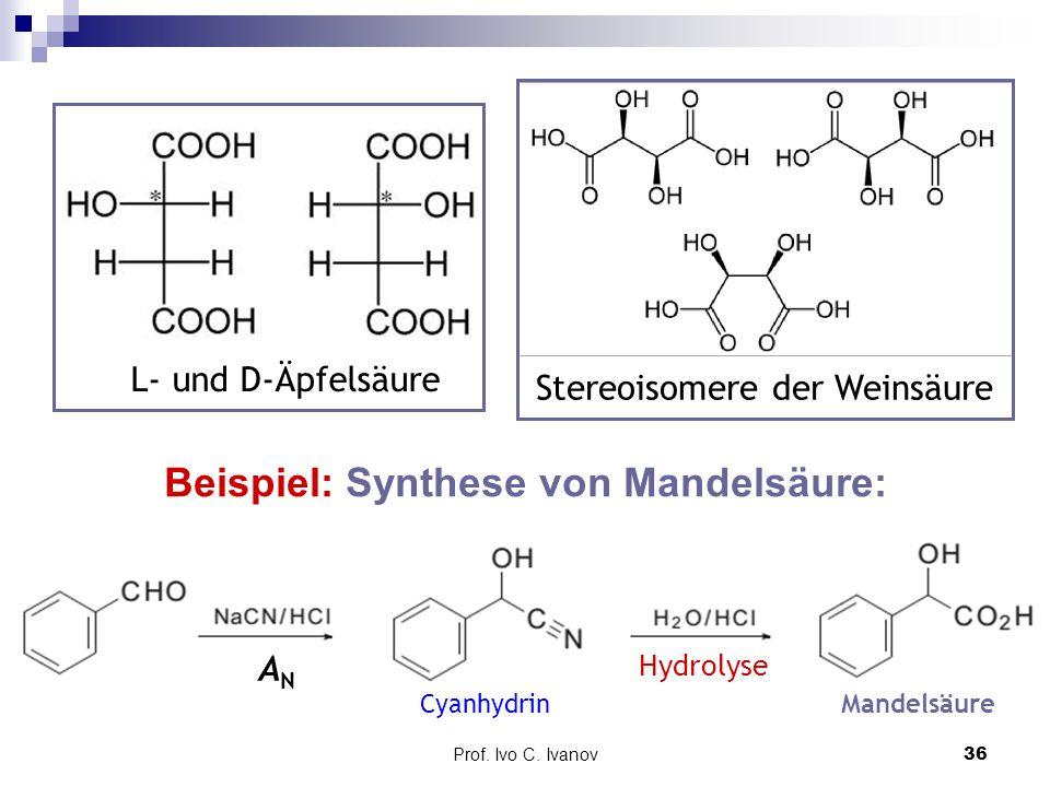 Beispiel: Synthese von Mandelsäure: