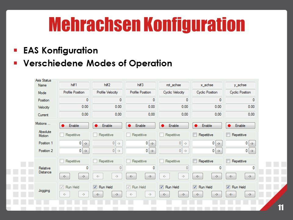 Mehrachsen Konfiguration