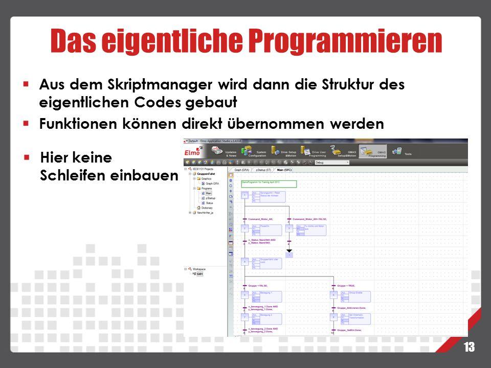 Das eigentliche Programmieren