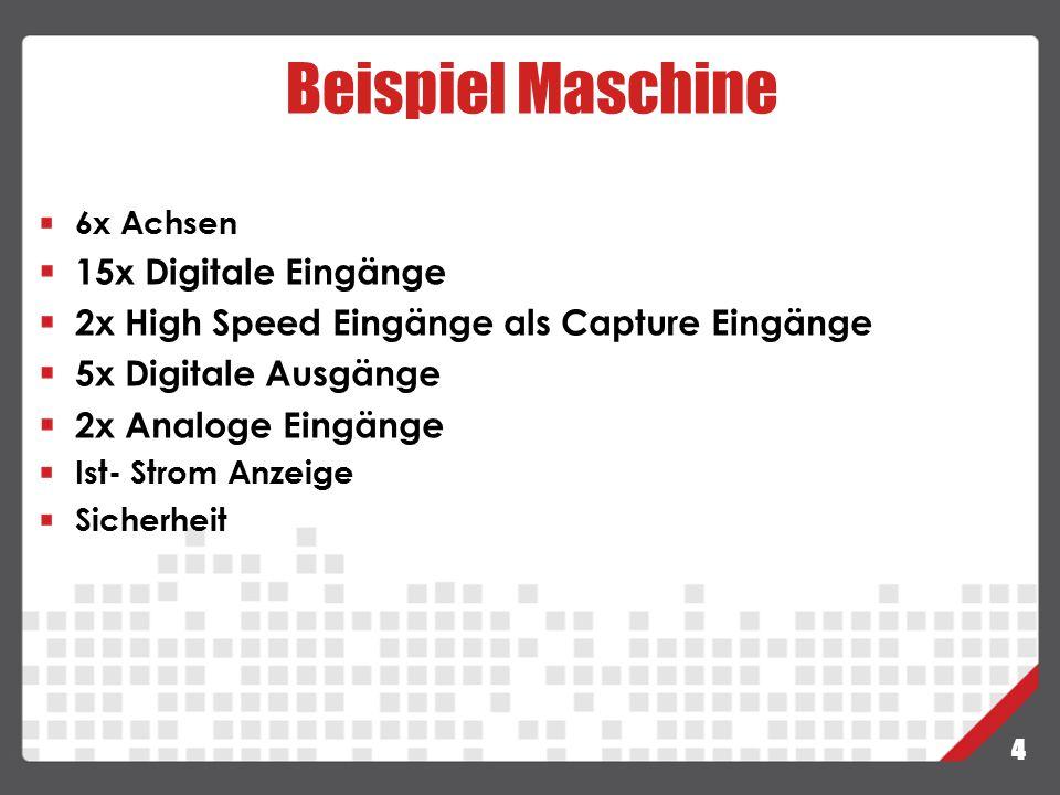 Beispiel Maschine 15x Digitale Eingänge