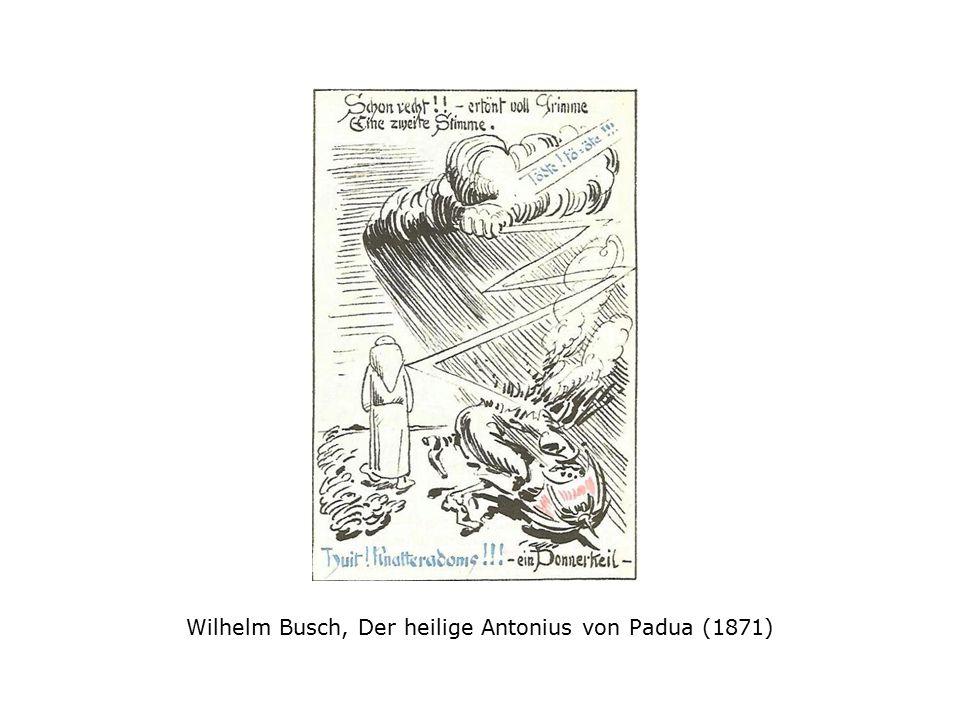 Wilhelm Busch, Der heilige Antonius von Padua (1871)
