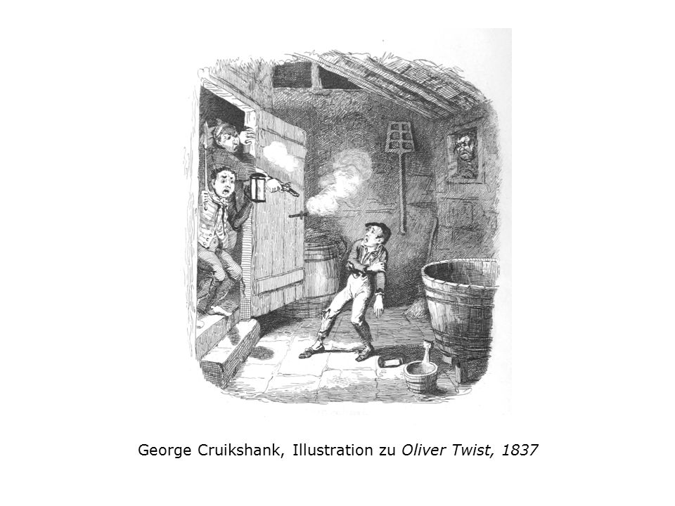 George Cruikshank, Illustration zu Oliver Twist, 1837