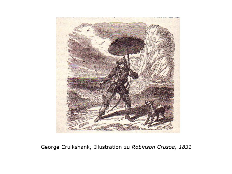 George Cruikshank, Illustration zu Robinson Crusoe, 1831