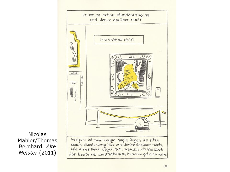 Nicolas Mahler/Thomas Bernhard, Alte Meister (2011)