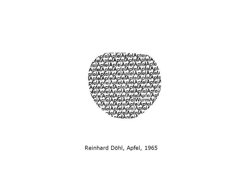 Reinhard Döhl, Apfel, 1965