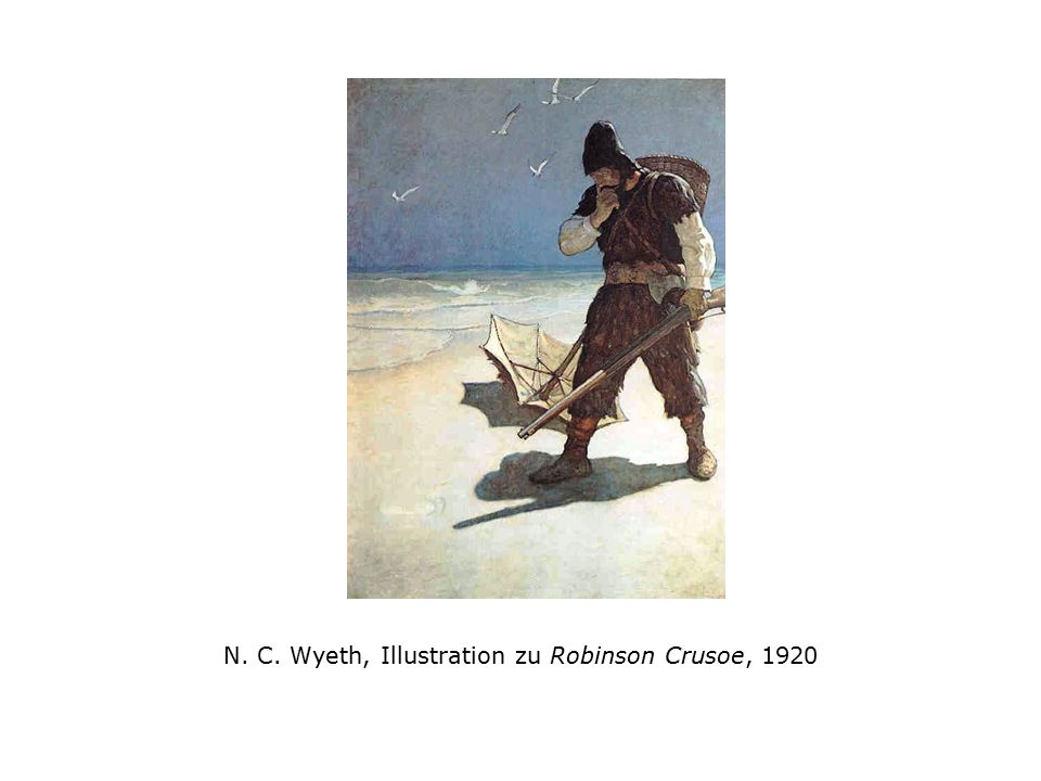 N. C. Wyeth, Illustration zu Robinson Crusoe, 1920