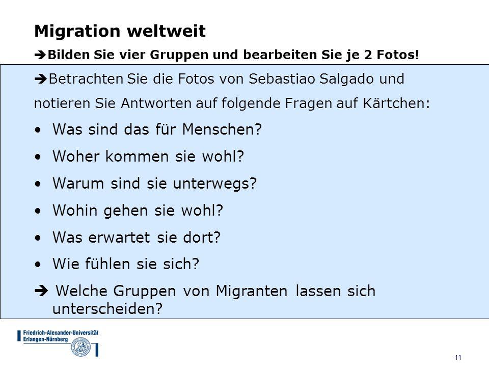 Migration weltweit Was sind das für Menschen Woher kommen sie wohl