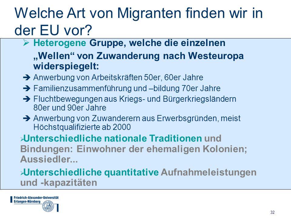 Welche Art von Migranten finden wir in der EU vor
