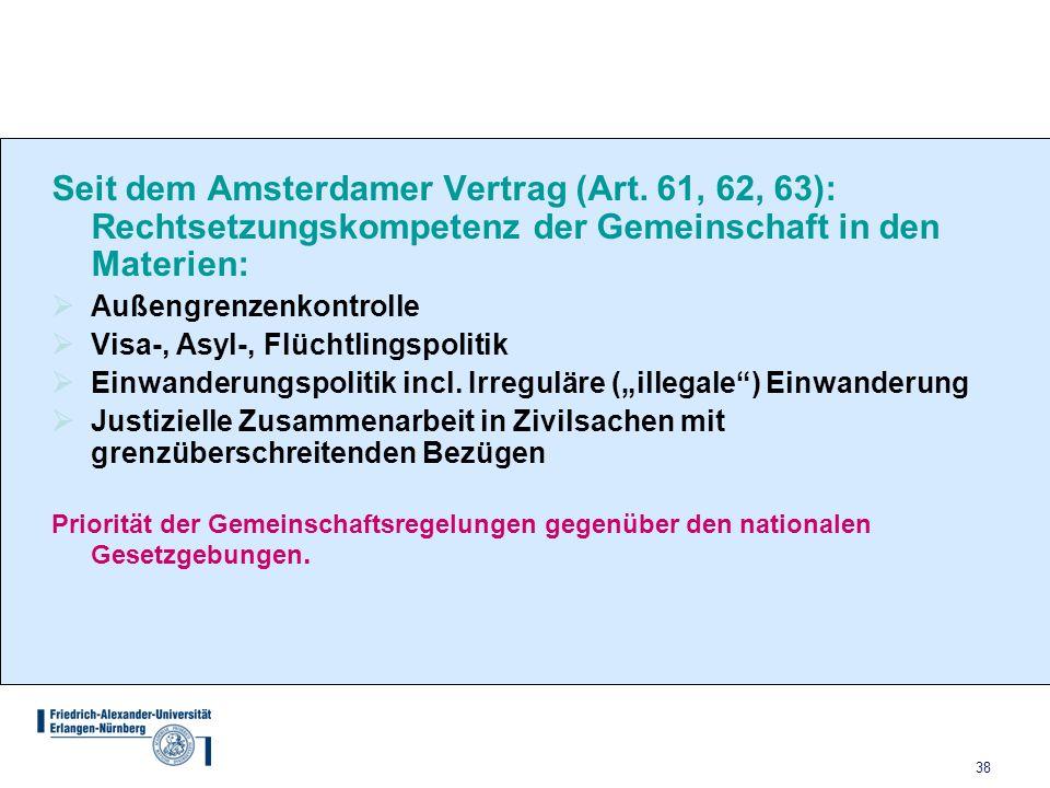 Seit dem Amsterdamer Vertrag (Art