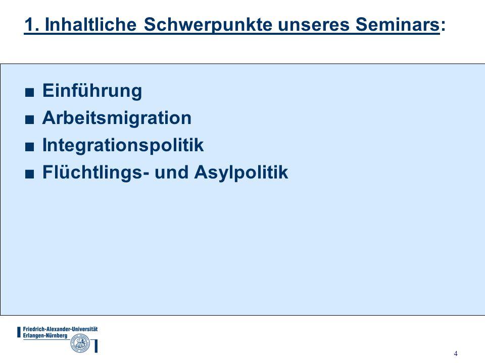1. Inhaltliche Schwerpunkte unseres Seminars: