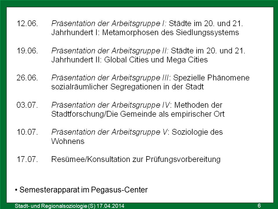 Semesterapparat im Pegasus-Center