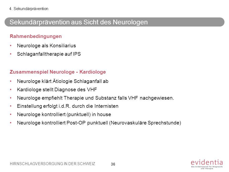 Sekundärprävention aus Sicht des Neurologen