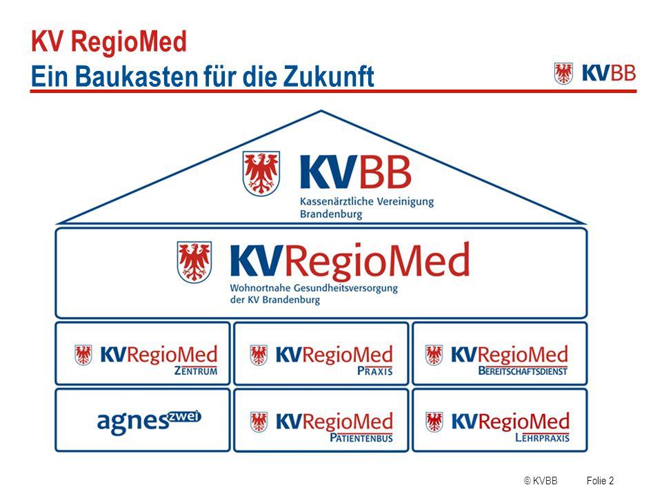 KV RegioMed Ein Baukasten für die Zukunft