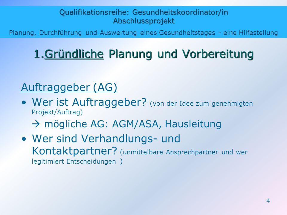1.Gründliche Planung und Vorbereitung