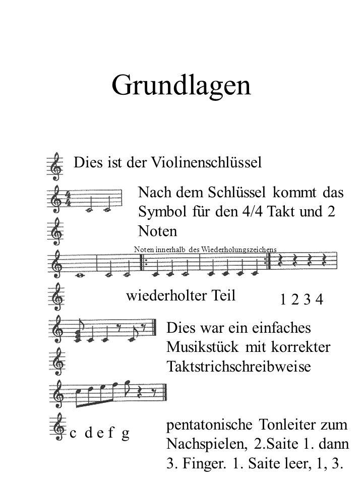 Grundlagen Dies ist der Violinenschlüssel