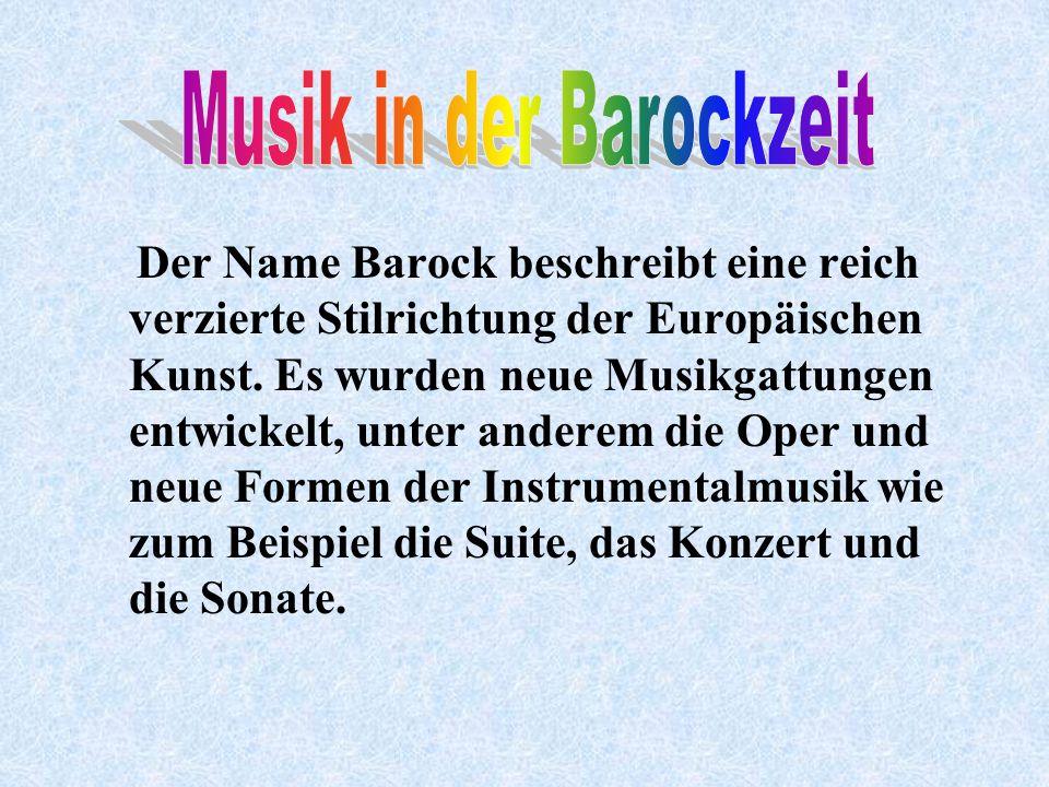 Musik in der Barockzeit