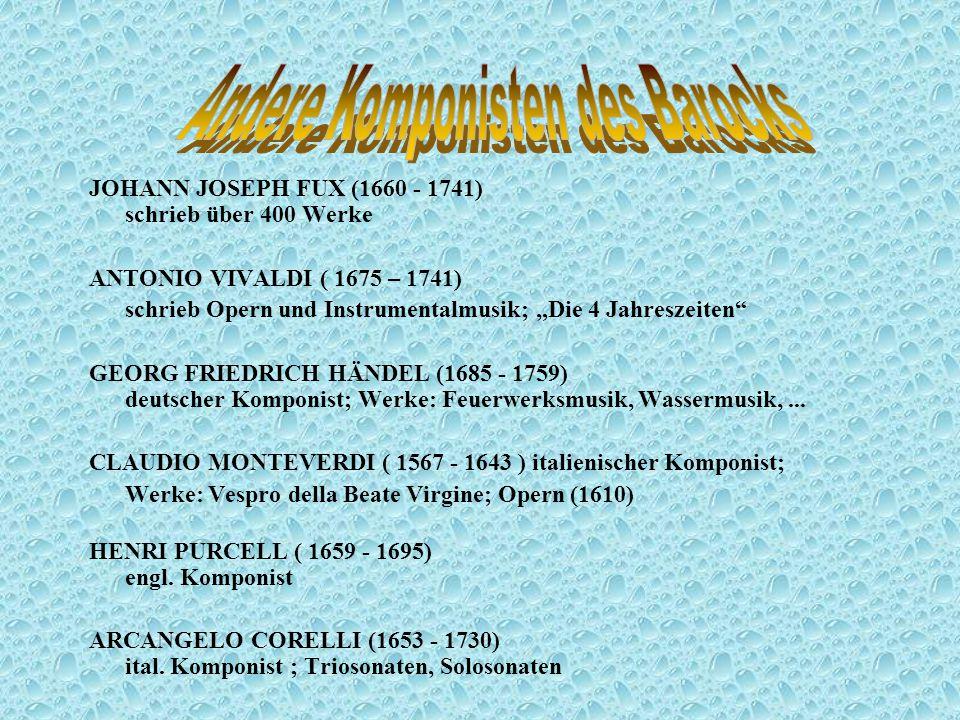 Andere Komponisten des Barocks