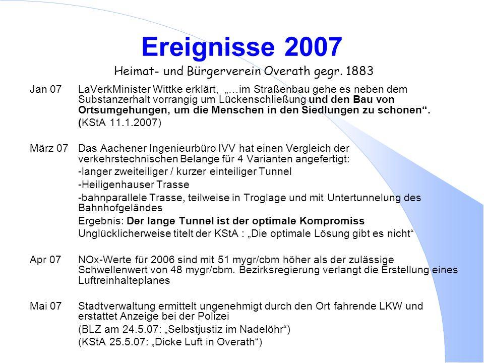 Ereignisse 2007 Heimat- und Bürgerverein Overath gegr. 1883