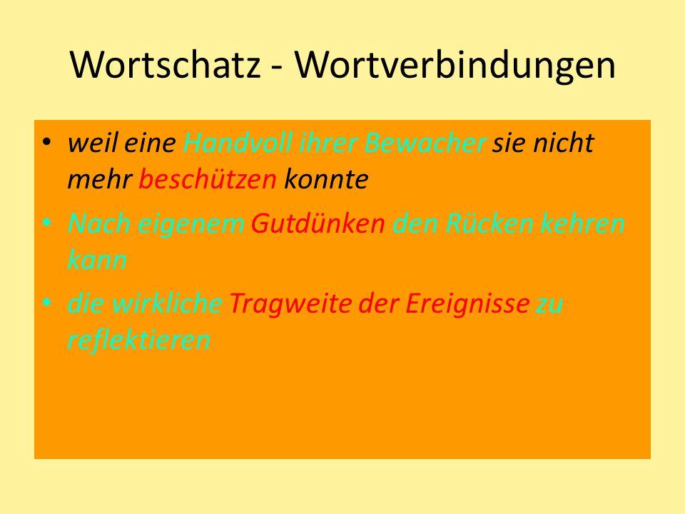 Wortschatz - Wortverbindungen