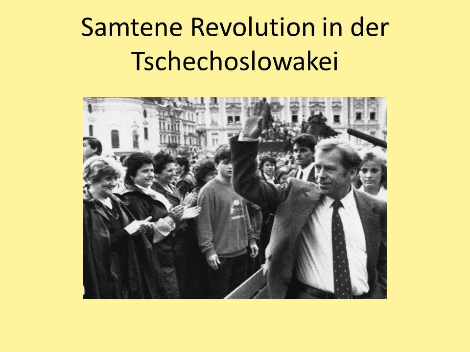 Samtene Revolution in der Tschechoslowakei