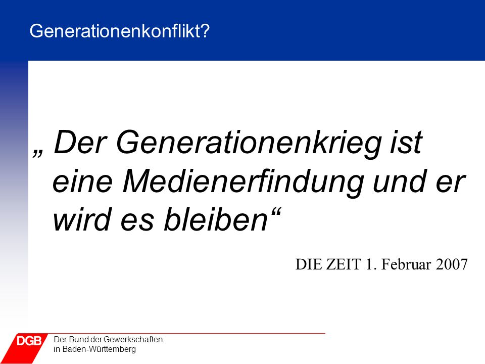 Generationenkonflikt