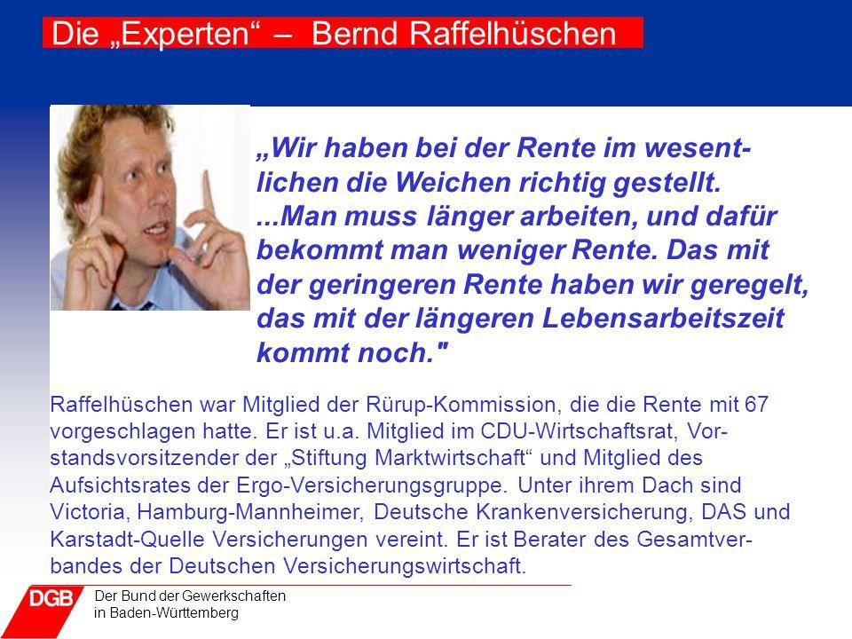 """Die """"Experten – Bernd Raffelhüschen"""