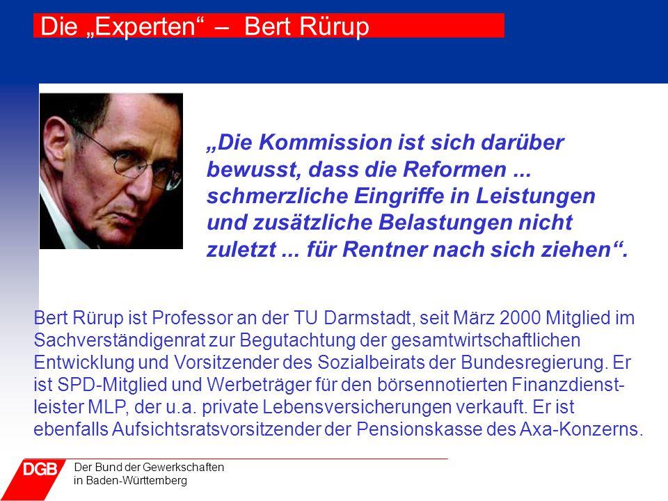 "Die ""Experten – Bert Rürup"