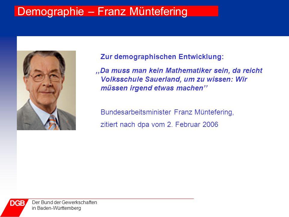 Demographie – Franz Müntefering