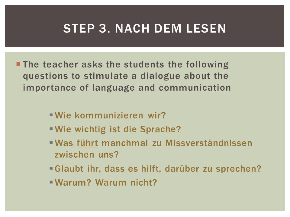 Step 3. Nach dem Lesen