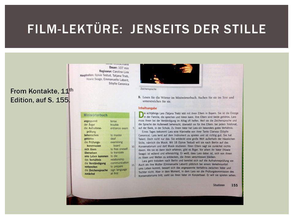 Film-Lektüre: Jenseits der Stille