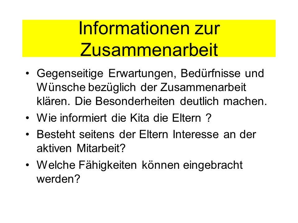 Informationen zur Zusammenarbeit