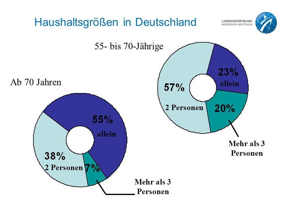 Haushaltsgrößen in Deutschland