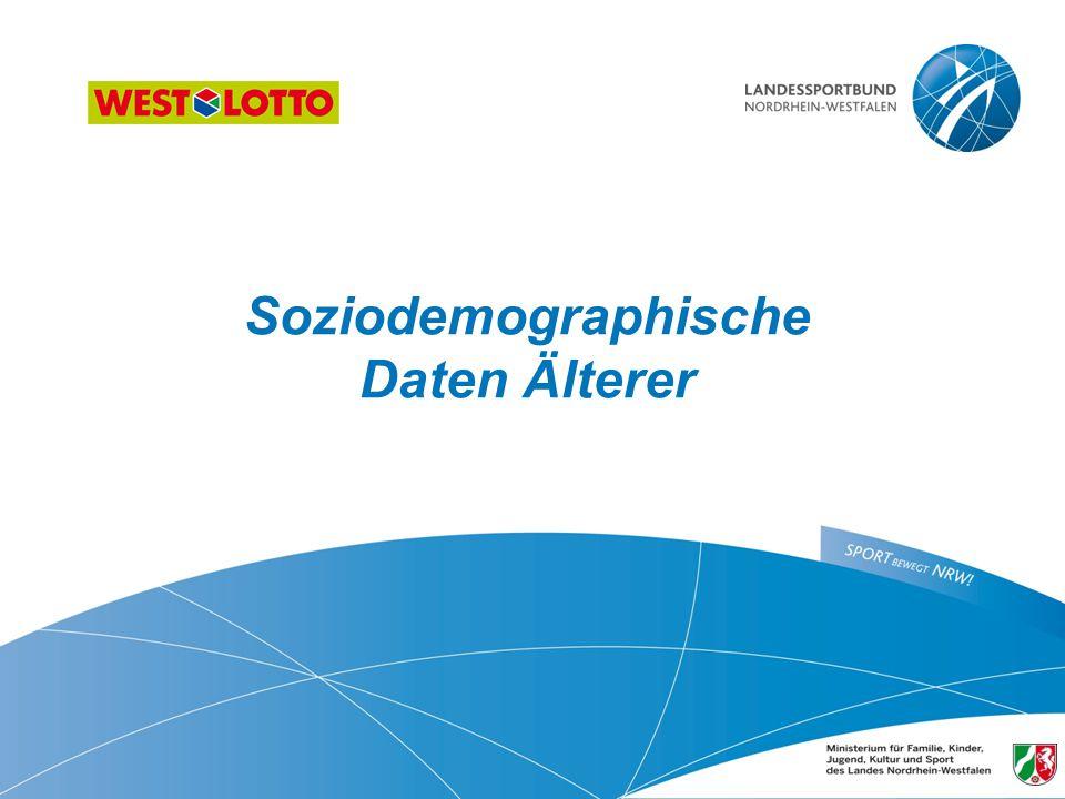 Soziodemographische Daten Älterer